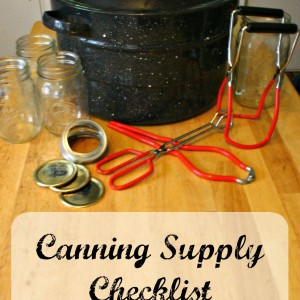 Canning Supply List
