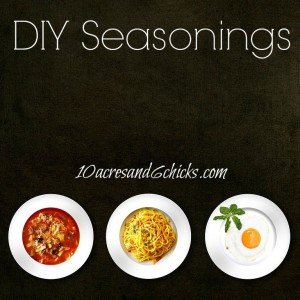 10 DIY Seasonings