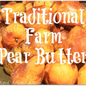 Traditional Farm Pear Butter