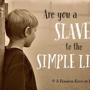 Are You a Slave to the Simple Life?