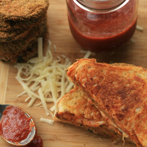 Eggplant Parmesan Grilled Cheese — aka the best grilled cheese