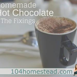 Homemade Hot Cocoa & The Dressings
