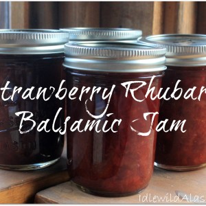 Strawberry Rhubarb Balsamic Jam