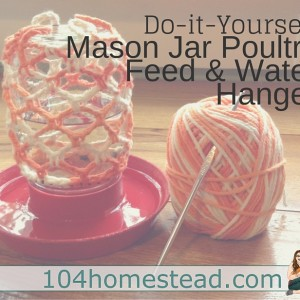 DIY Mason Jar Water Hanger: Simple crochet tutorial.