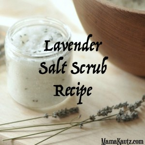 Homemade Lavender Salt Scrub. A Great Christmas Gift.