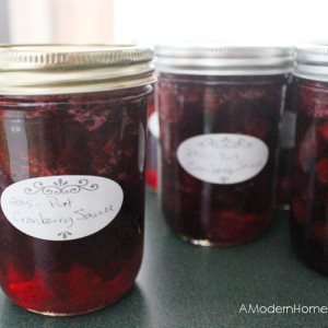 Port Wine and Cinnamon Cranberry Sauce with Canning Instructions