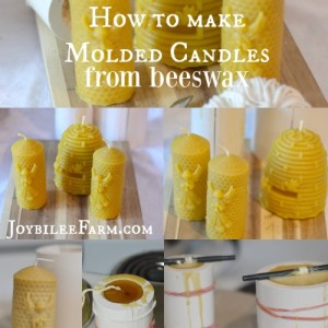 How to Make Molded Beeswax Candles
