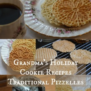 Grandma's Holiday Cookie Recipes – Traditional Pizzelles