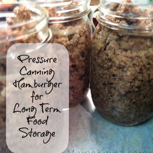 Pressure Canning Ground Beef