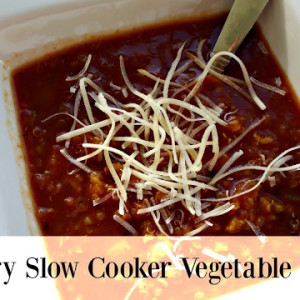 Slow Cooker Veggie Soup for TWO!