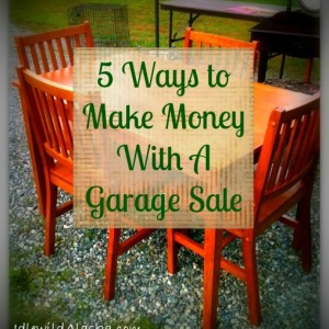 5 Ways to Make Money With a Garage Sale
