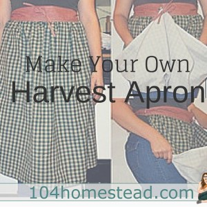 Harvesting Apron Tutorial: A super-simple sewing project.
