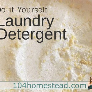 DIY Laundry Detergent: Make it for pennies!