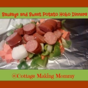 Sausage and Sweet Potato Hobo Dinners