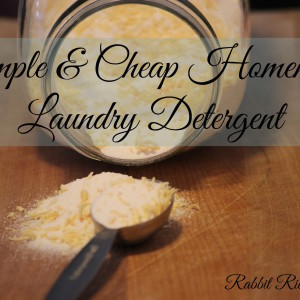 Simple & Cheap Homemade Laundry Detergent