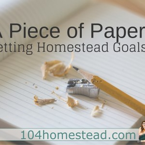 Creating Homestead Goals