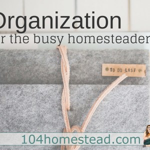 Organization for the Busy Homesteader