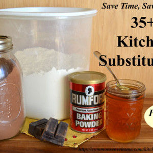 Handy Kitchen Substitutions