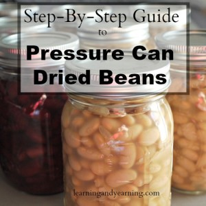 Step-By-Step Guide to Pressure Can Dried Beans