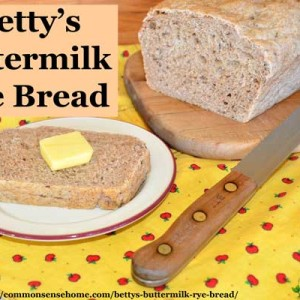 Betty's Buttermilk Rye Bread