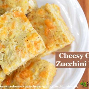 Cheesy Garlic Zucchini Bread