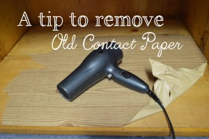 how to remove old contact paper homestead bloggers network. Black Bedroom Furniture Sets. Home Design Ideas