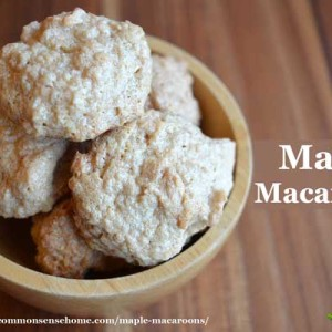 Maple Macaroons – Refined Sugar Free, Gluten Free, Delicious!