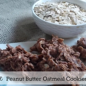 No Bake Peanut Butter Cookies