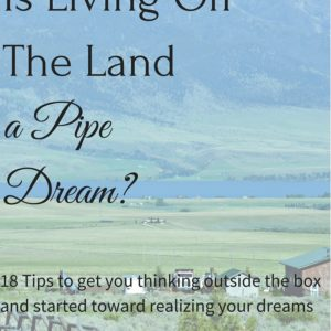 Is Living Off The Land a Pipe Dream?
