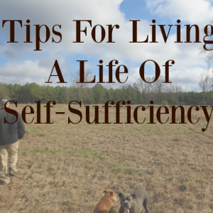 Tips For Living A Life of Self-Sufficiency