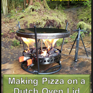 Making Pizza on a Dutch Oven Lid