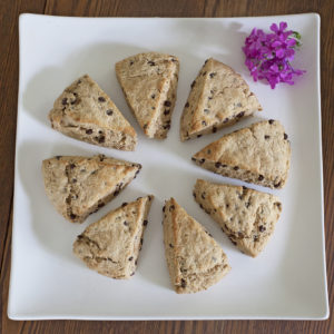 Lightened Chocolate Chip Cream Scones