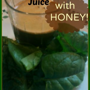 Spinach-Carrot Juice with Honey