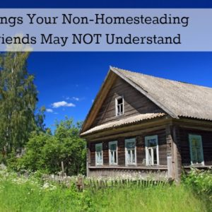 Things Your Non-Homesteading Friends May NOT Understand