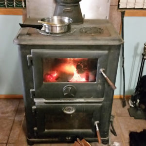 Choosing a woodstove for heating and cooking