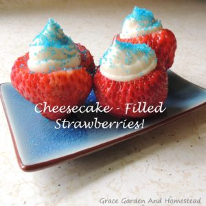 Strawberries Filled With Cheesecake