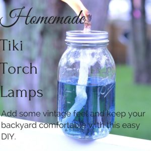 DIY Mason Jar Tiki Lamps