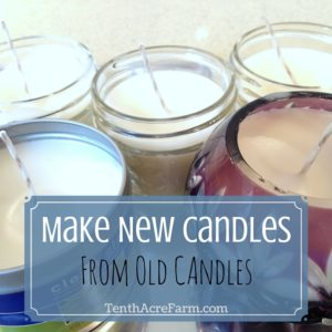 Make New Candles from Old Candles