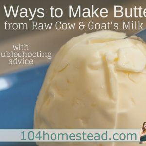 4 Ways to Make Butter from Raw Milk