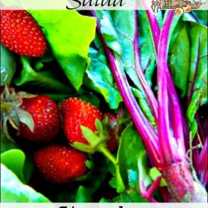 Strawberry Beet Green Salad with Strawberry Dressing