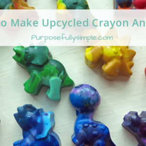 Melting Crayons: How to Make Upcycled Crayon Animals