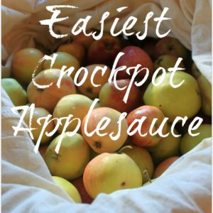 Easiest Homemade Crockpot Applesauce
