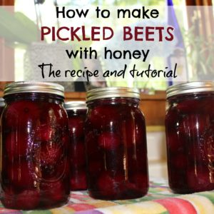 How to make pickled beets with honey, allspice and cinnamon