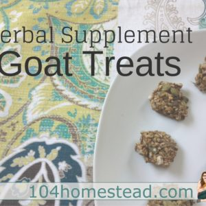 Goat Treats for Herbal Supplement Powders