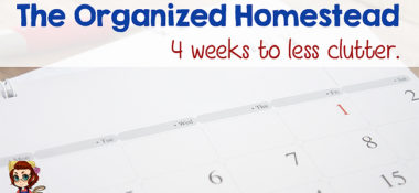 Organized Homestead – 4 Weeks to Less Clutter