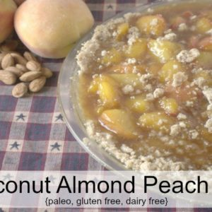 Coconut Almond Peach Pie