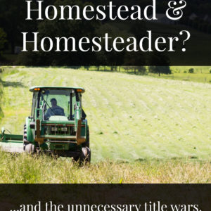What is a Homestead and Homesteader? | And the unnecessary title wars