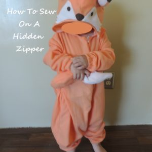 It's Just This Easy To Sew Your Own Hidden Zipper (And A Cute Fox Costume)