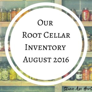 Root Cellar Inventory: August 2016