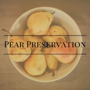 Stocking Up: Pears